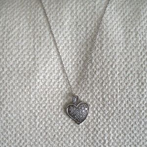 Silver Heart pendant & necklace